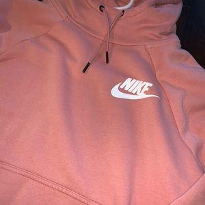 Nike Tops - Nike Cowl Neck Mauve Hoodie